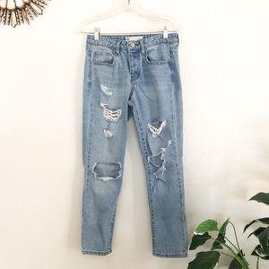 RSQ Soho Boyfriend Ripped Jeans Size 24